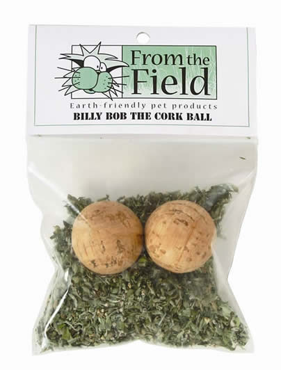 From The Field Billy Bob Cork Ball Cat Toy