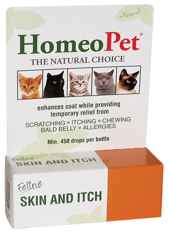HomeoPet Feline Skin & Itch Cat Supplement, 450 drops