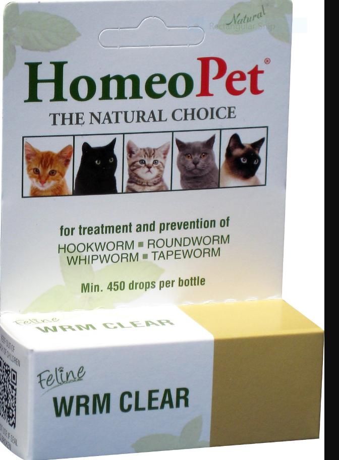 HomeoPet Feline WRM Clear Cat Supplement, 450 drops