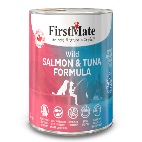 FirstMate 50/50 Salmon & Tuna Formula Grain-Free Canned Dog Food, 12.2-oz