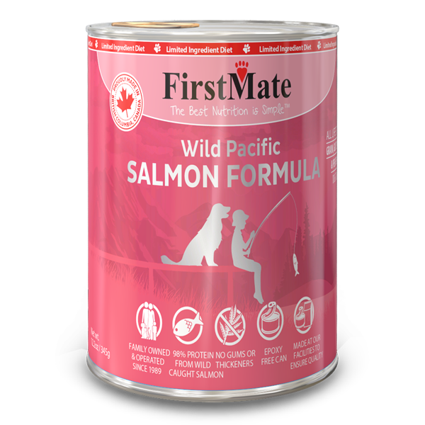 FirstMate Salmon Formula Limited Ingredient Grain-Free Canned Dog Food, 12.2-oz Size: 12.2-oz