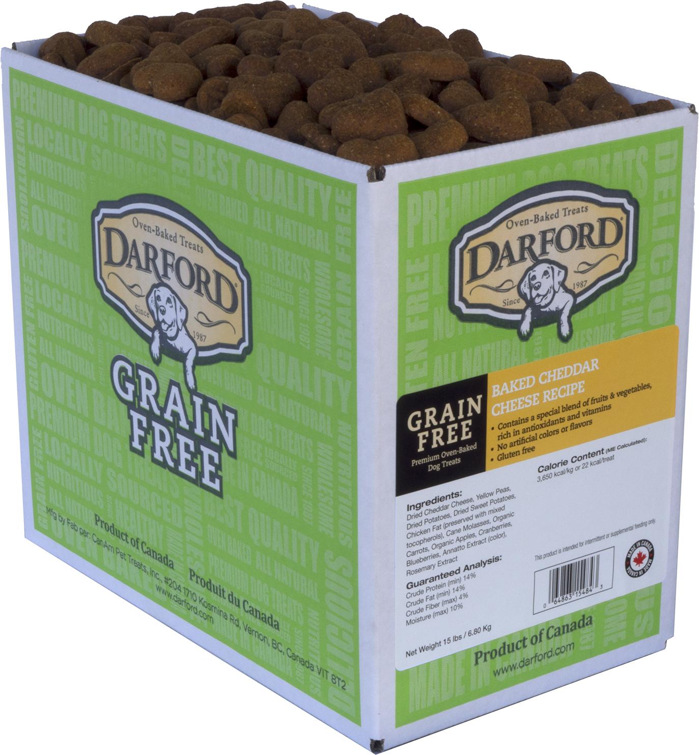 Darford Baked Cheddar Cheese Recipe Grain-Free Mini Dog Treats, 15-lb box