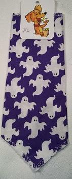Mooch's Munchies Bandanna Dog Bandana, Ghosts, Toy