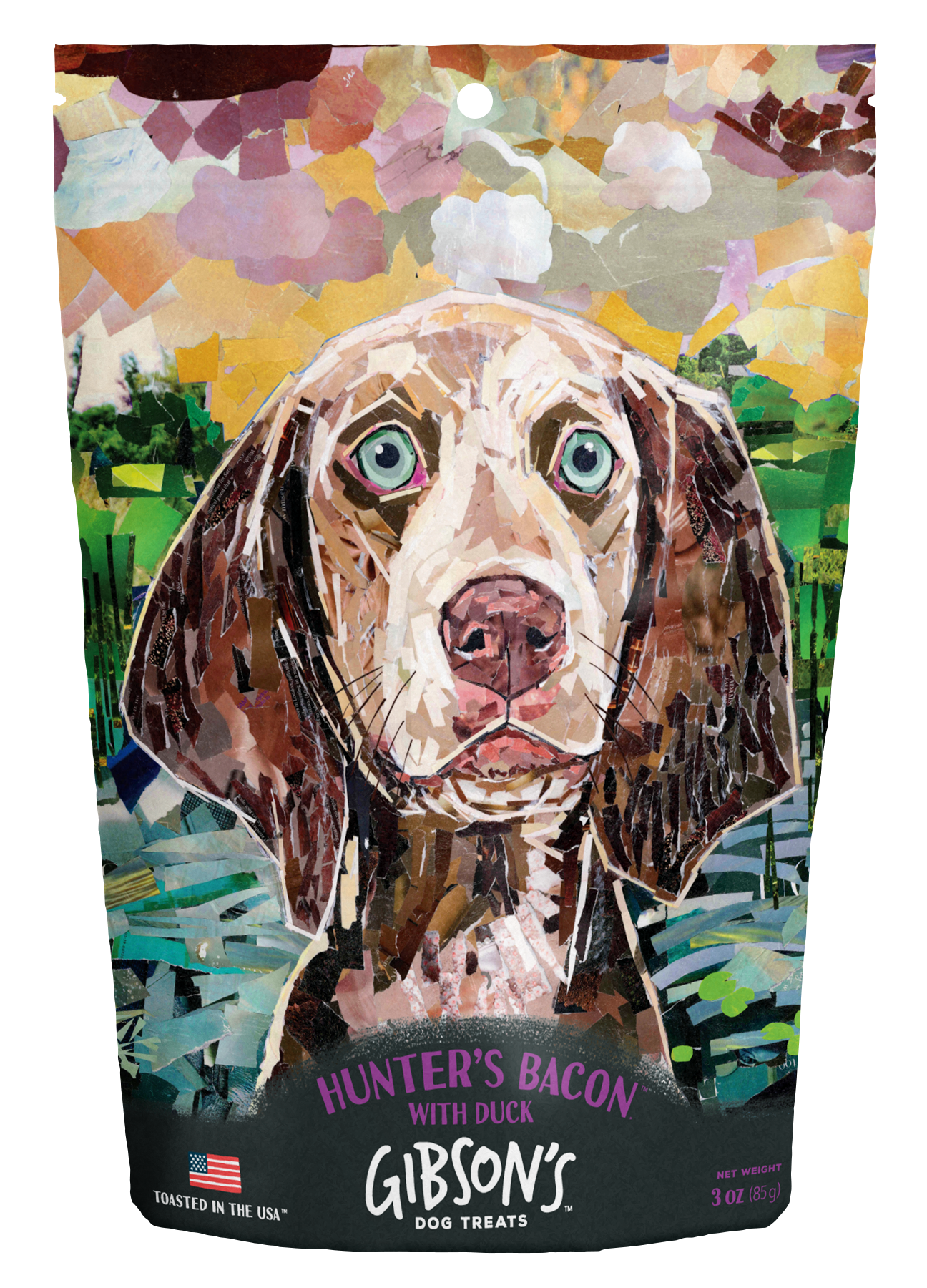 Wild Meadow Farms Gibson's Hunter's Bacon with Duck Dog Treats, 3-oz