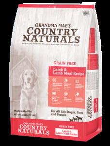 Grandma Mae's Country Naturals Grain-Free Lamb & Lamb Meal Recipe Dry Dog Food, 9-oz