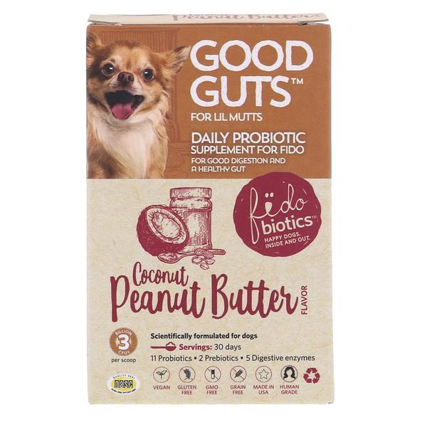 Fidobiotics Good Guts Coconut Peanut Butter Probiotic Powder Dog Supplement