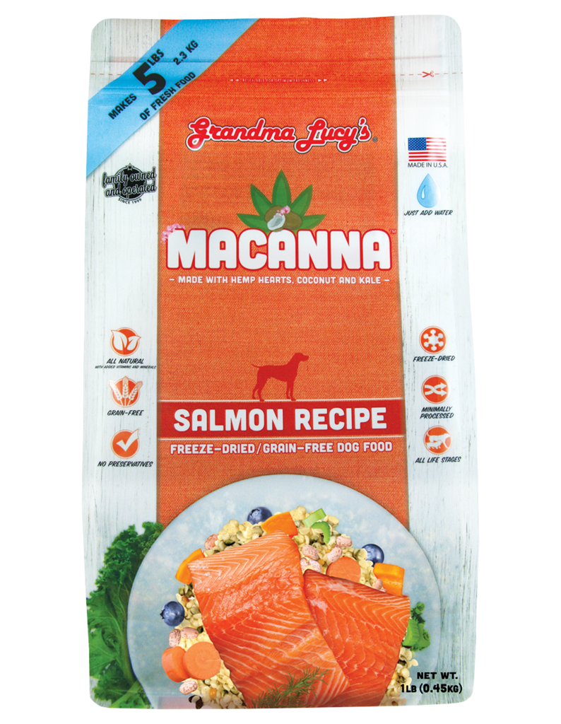 Grandma Lucy's Macanna Salmon Freeze-Dried Grain-Free Dog Food, 1-oz