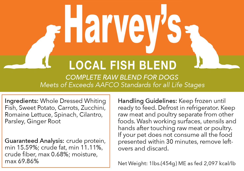 Harvey's Local Fish Blend Frozen Dog Food