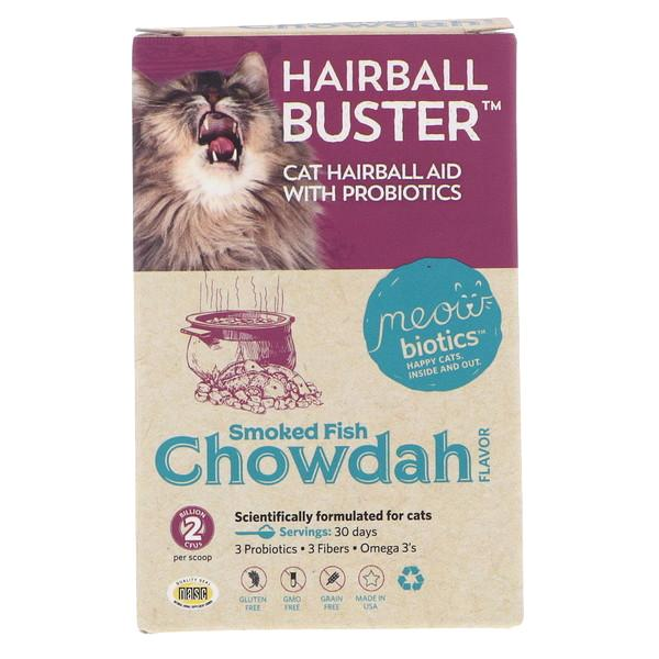 Fidobiotics Meowbiotics Hairball Buster Probiotic Powder Cat Supplement