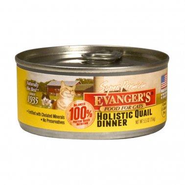 Evanger's Super Premium Quail Dinner Grain-Free Canned Cat Food, 5.5-oz
