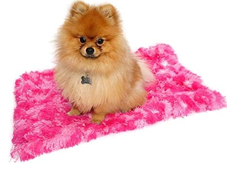 The Dog Squad Minkie Binkie Blanket, Hot Pink Giraffe Shag, 30-in x 36-in