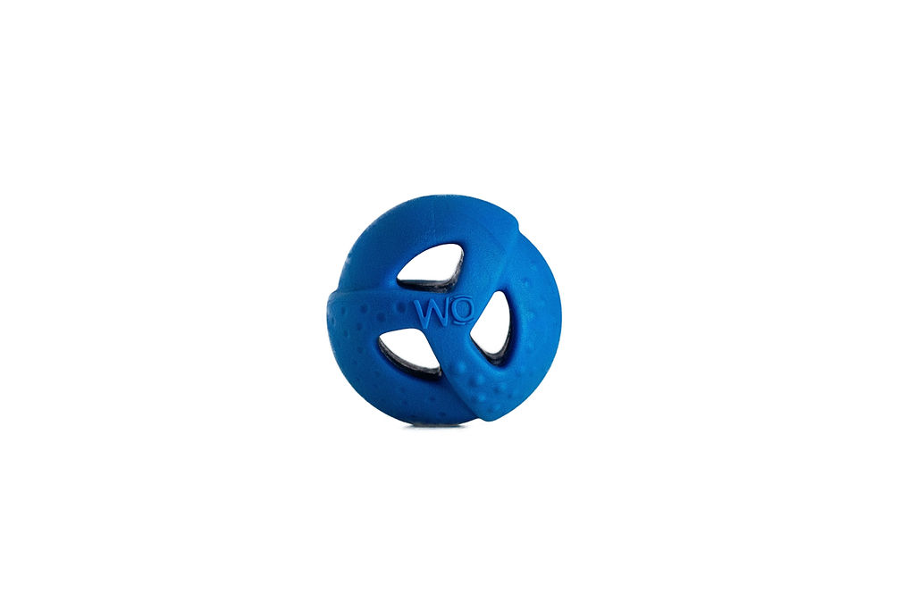 WO Play Ball Dog Toy, Blue