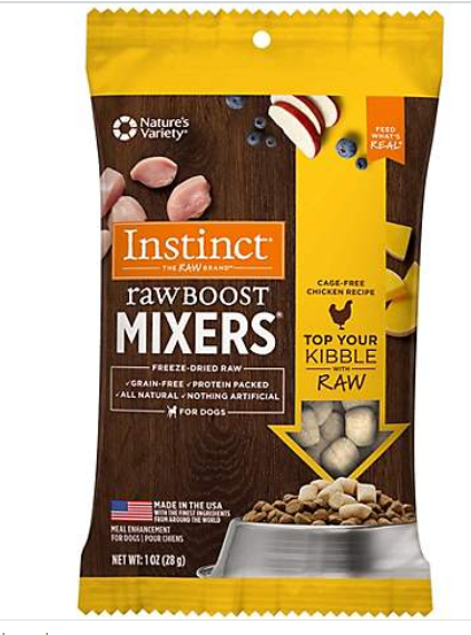 Instinct by Nature's Variety Raw Boost Mixers Chicken Recipe Freeze-Dried Dog Food Topper