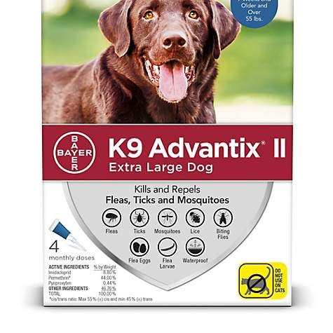 K9 Advantix II Flea & Tick Treatment for Extra Large Dogs Over 55-lbs, 2- Pack
