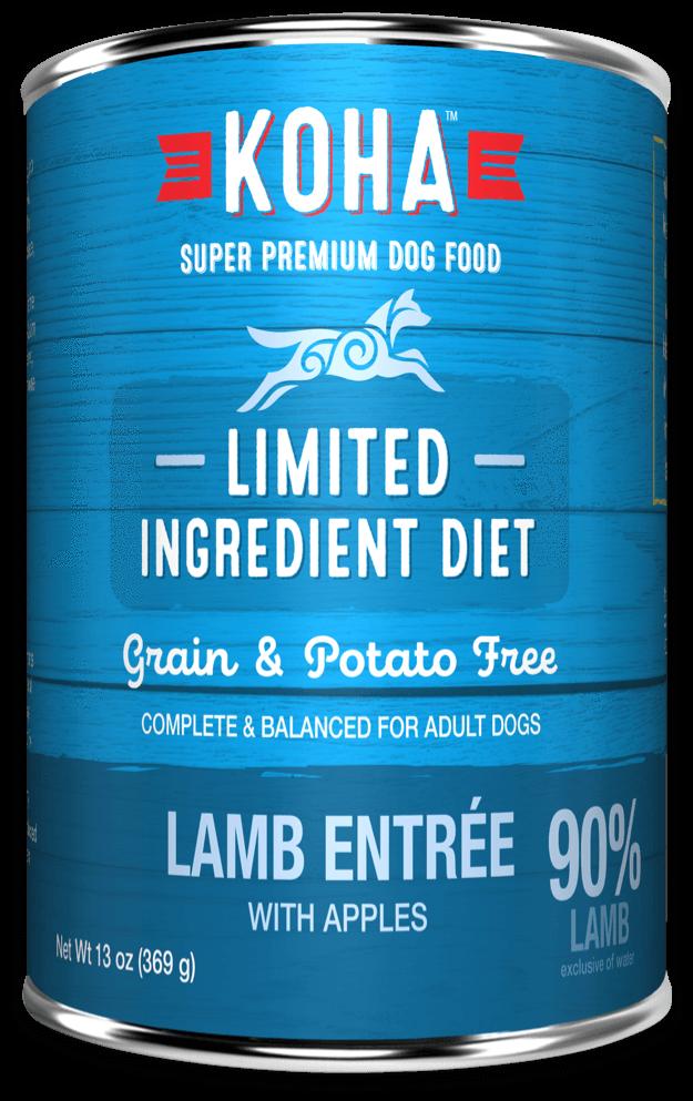 Koha Limited Ingredient Diet Lamb Entrée with Apples Wet Dog Food, 13-oz, case of 12