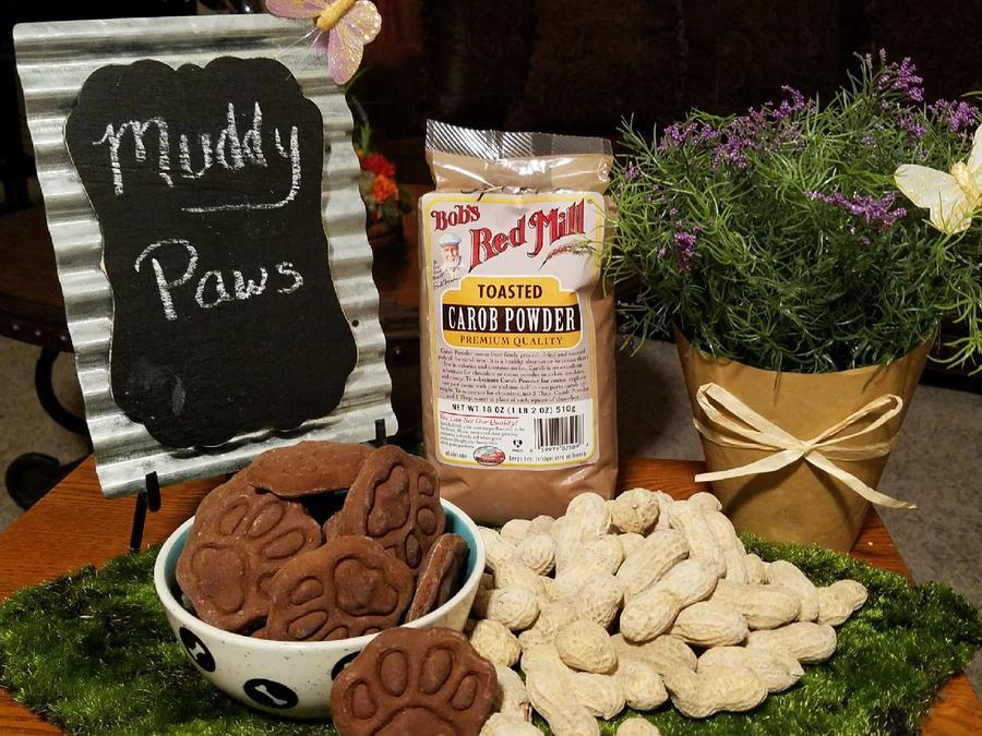 Mooch's Munches Muddy Paws Dog Treats, 1/4-lb