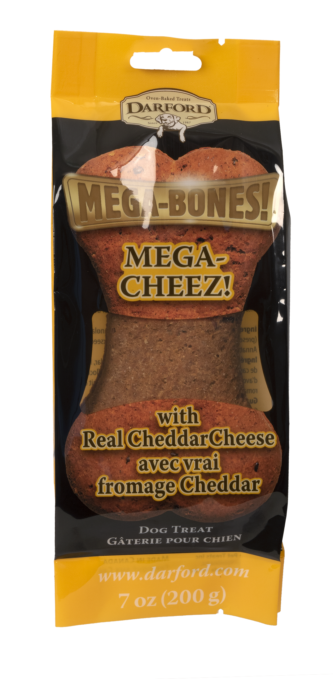 Darford Mega Cheez Bone Dog Treat, 7-oz