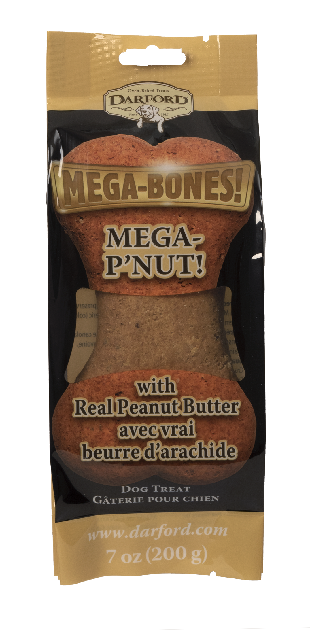 Darford Mega P'Nut Flavor Bone Dog Treat, 7-oz