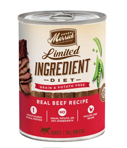 Merrick Grain-Free Limited Ingredient Diet Beef Recipe Canned Dog Food