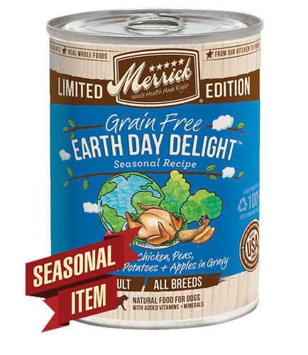 Merrick Limited Edition Grain-Free Earth Day Delight Adult Canned Dog Food, 12.7-oz