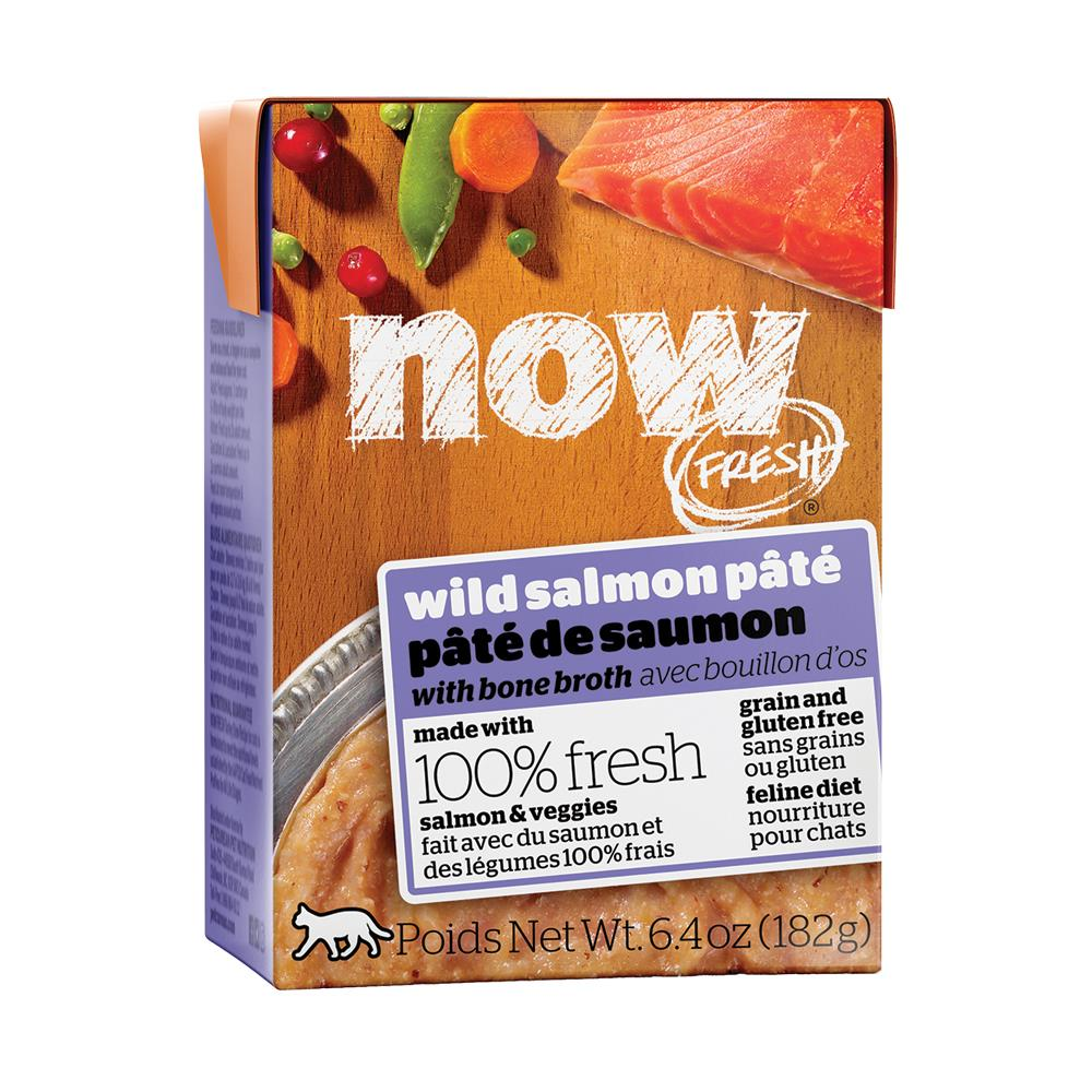 Petcurean Cat Now Fresh Grain-Free Wild Salmon Pate Wet Cat Food, 6.4 oz ,case of 24