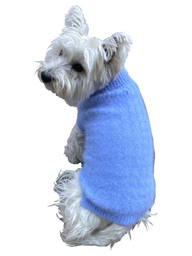 The Dog Squad Ziggy Zag Sweater, Periwinkle, XX-Small