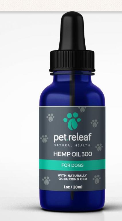 Pet Releaf Dog Oil- 300 mg