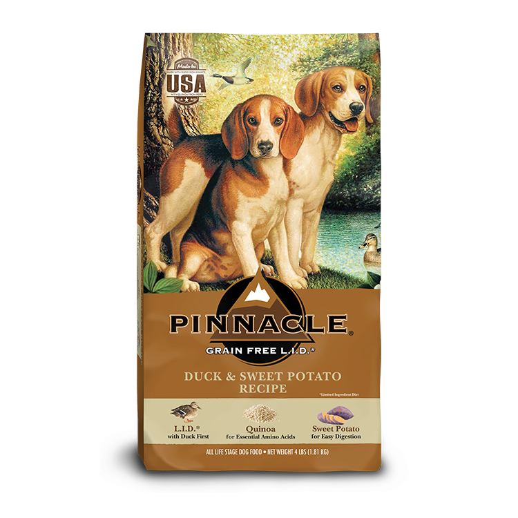 Pinnacle Grain Free Duck and Sweet Potato Formula Dog Food, 24-lb
