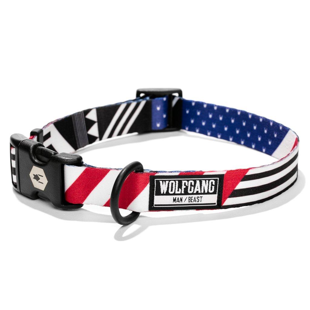 Wolfgang PledgeAllegiance Dog Collar, Large (1-in x 18-26-in)