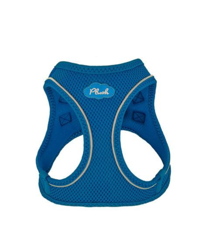 Plush Step-In Air Mesh Vest Dog Harness - Lapic Blue