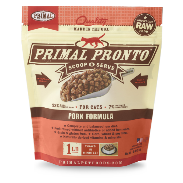 Primal Pronto Raw Pork Frozen Cat Food