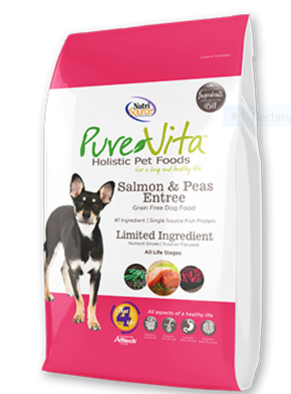 PureVita Salmon & Peas Entrée Grain Free Formula Dry Dog Food, 5-lb bag