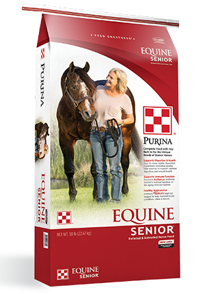 Purina Equine Senior Horse Feed, 50-lb