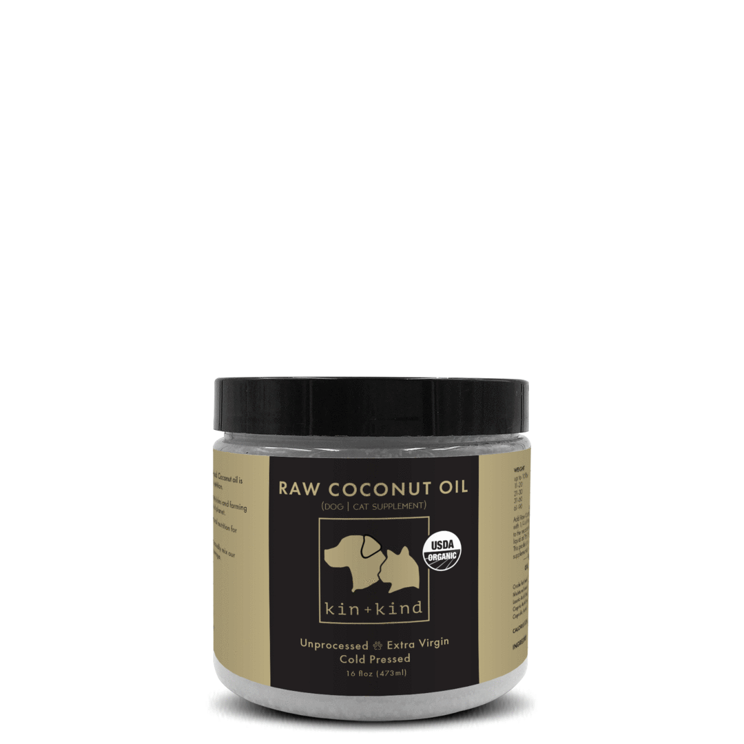 Kin+Kind Raw Coconut Oil Supplement For Dogs & Cats