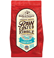 Stella & Chewy's Raw Coated Kibble Grass-Fed Lamb Recipe Grain-Free Dog Food, 3.5-lb