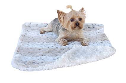 The Dog Squad Minkie Binkie Blanket, Snow Leopard, Square