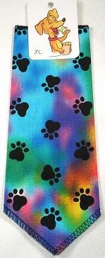 Mooch's Munchies Bandanna Dog Bandana, Tye Dye Paws, Toy