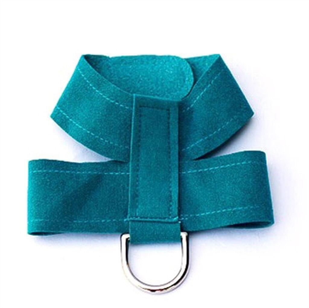 The Dog Squad Hollywood Quick Release Ultra Suede Dog Harness, Teal, Small