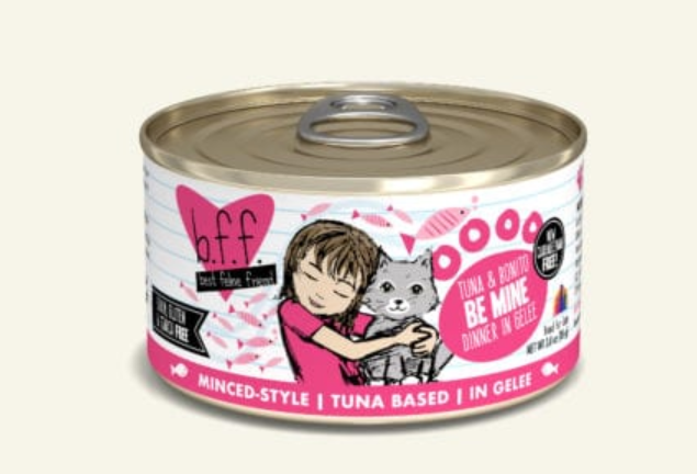 BFF Originals Be Mine Tuna & Bonito Dinner in Gelee Grain-Free Wet Cat Food, 5.5-oz