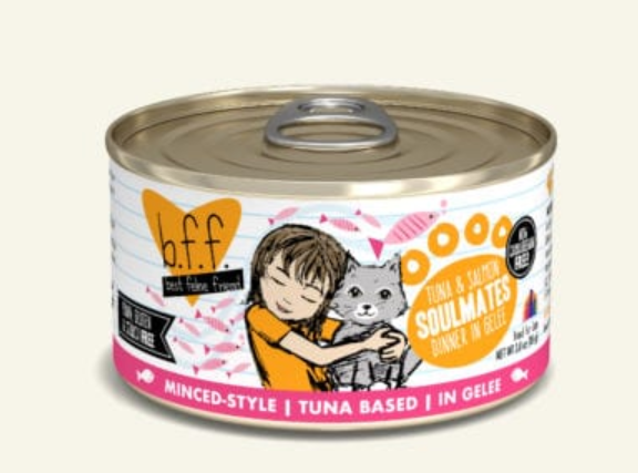 BFF Originals Soulmates Tuna & Salmon Dinner in Gelee Grain-Free Wet Cat Food, 5.5-oz