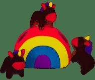 ZippyPaws Burrows Unicorns Rainbow Dog Toy
