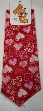 Mooch's Munchies Bandanna Dog Bandana, Valentine's Sparkle Hearts, Small
