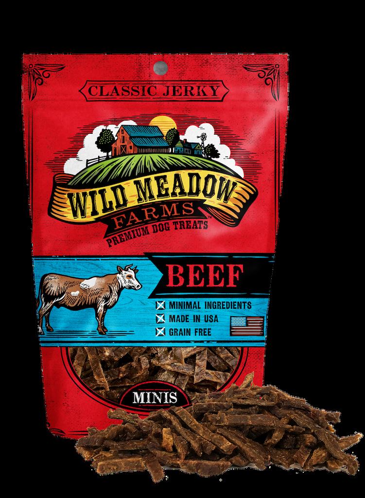 Wild Meadow Farms Classic Jerky Minis Beef, 4-oz