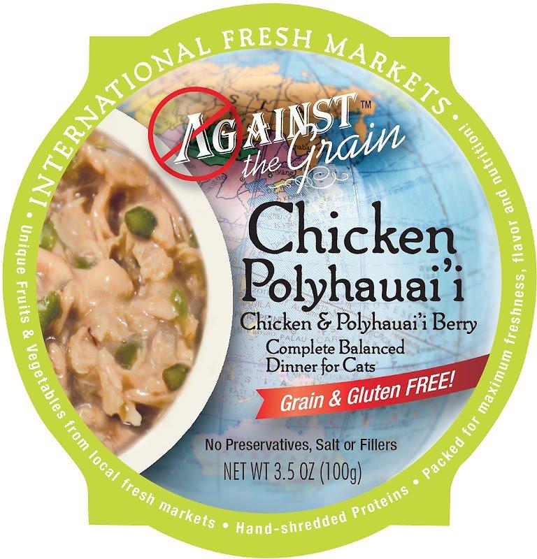 Against the Grain Chicken & Polyhauai'i Berry Dinner Grain-Free Wet Cat Food, 3.5-oz