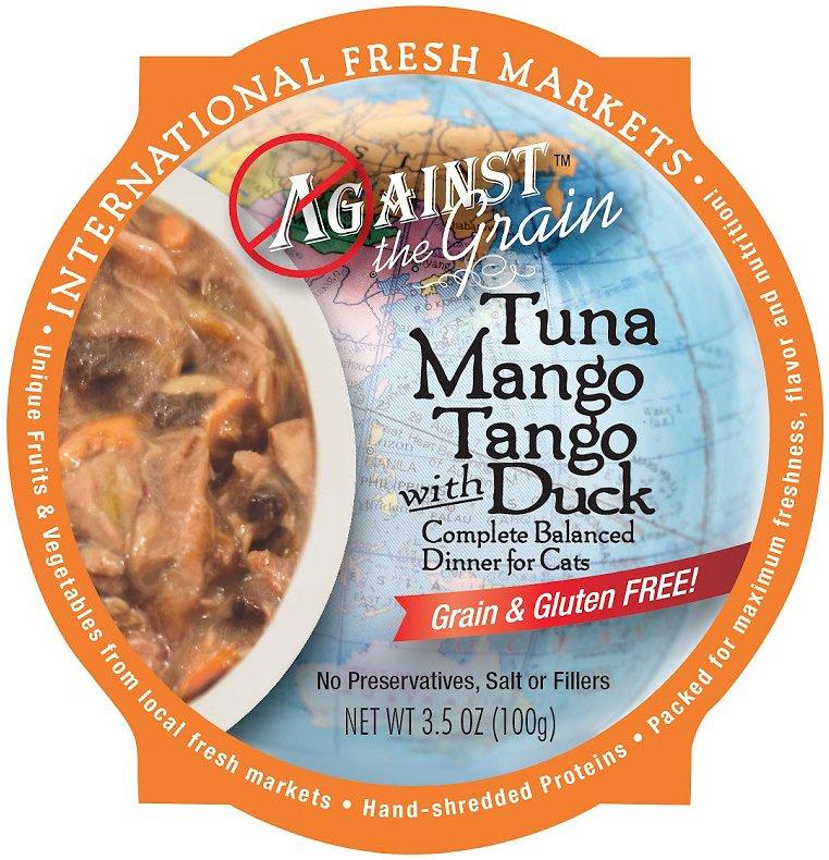 Against the Grain Tuna Mango Tango with Duck Dinner Grain-Free Wet Cat Food, 3.5-oz