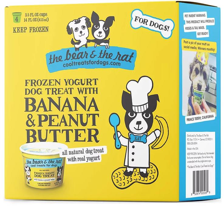 The Bear & The Rat Frozen Yogurt With Banana & Peanut Butter Frozen Treat