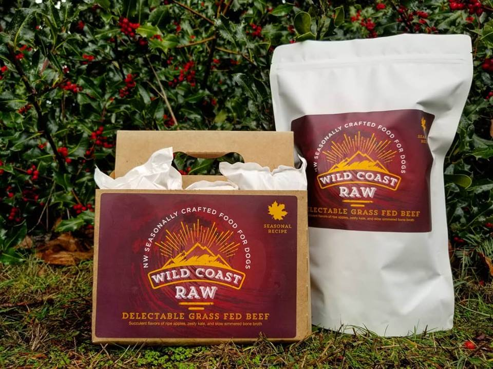 Wild Coast Raw Delectable Grass Fed Beef Raw Frozen Dog Food