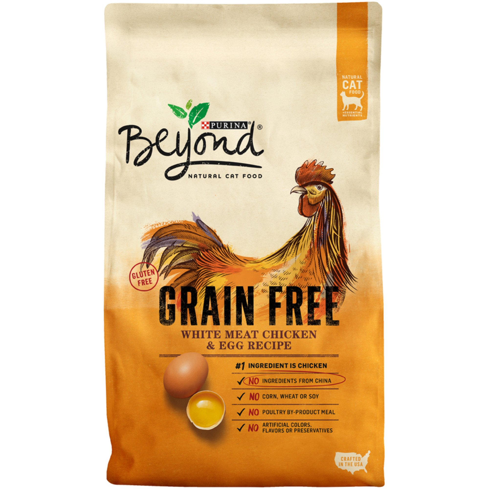 Purina Beyond White Meat Chicken & Egg Recipe Grain-Free Dry Cat Food, 5-lb bag
