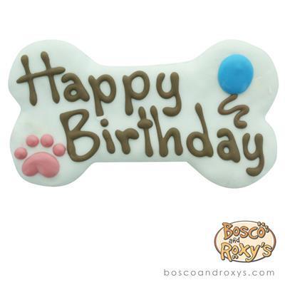 Bosco & Roxy's - White Birthday Collection Happy Birthday Bone