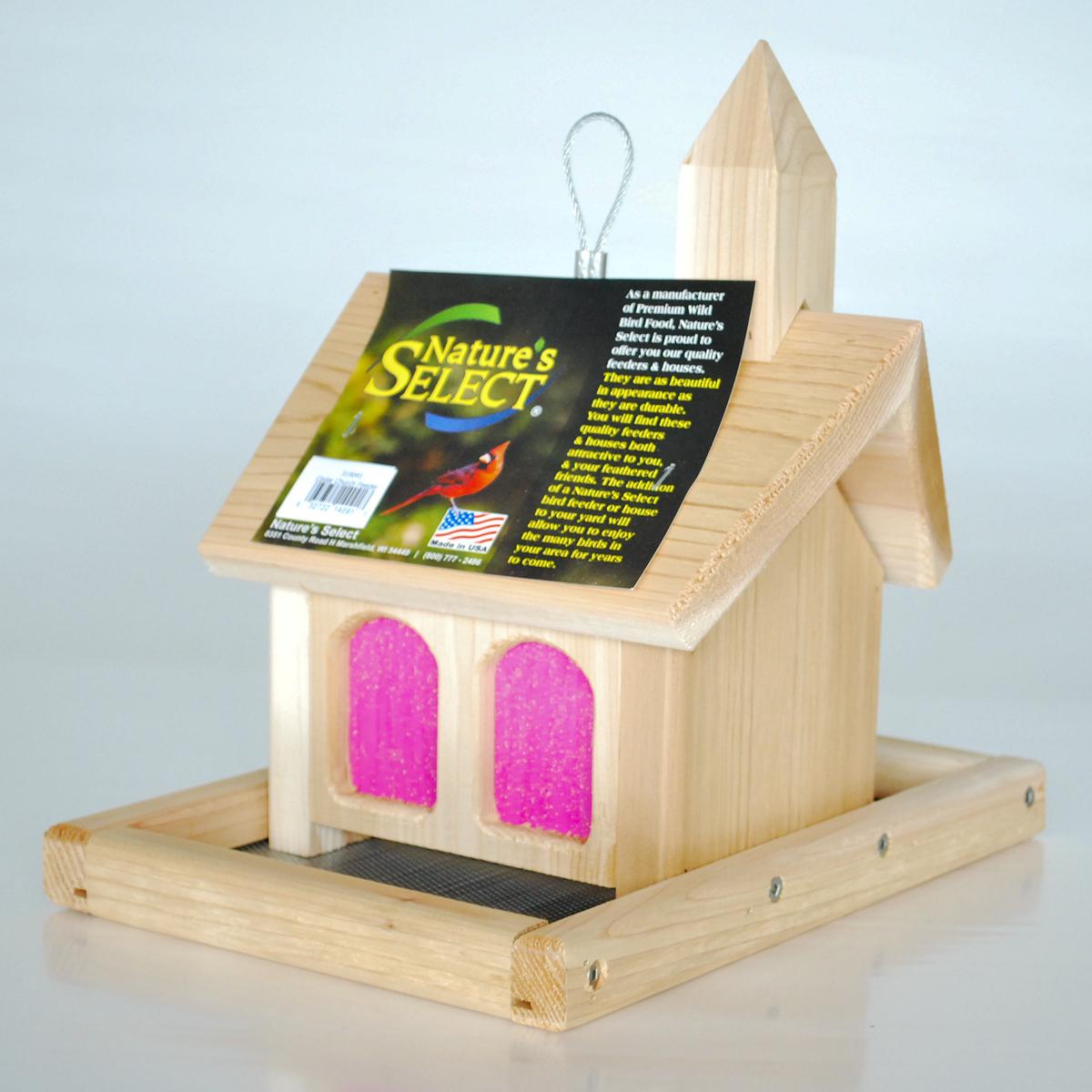 Nature's Select Cedar Church Bird Feeder